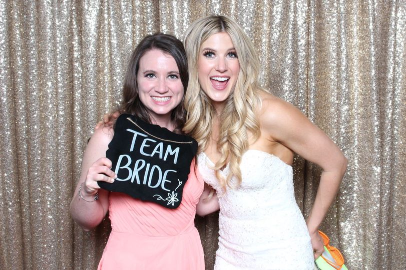 Bride in Photo Booth