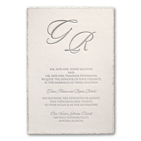 deckled in pearl invitation 51 95636 160677905771307