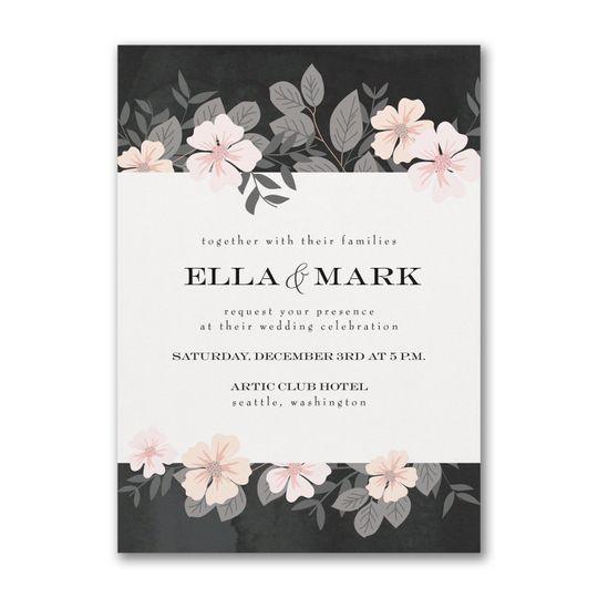 Decorative Floral Invitation