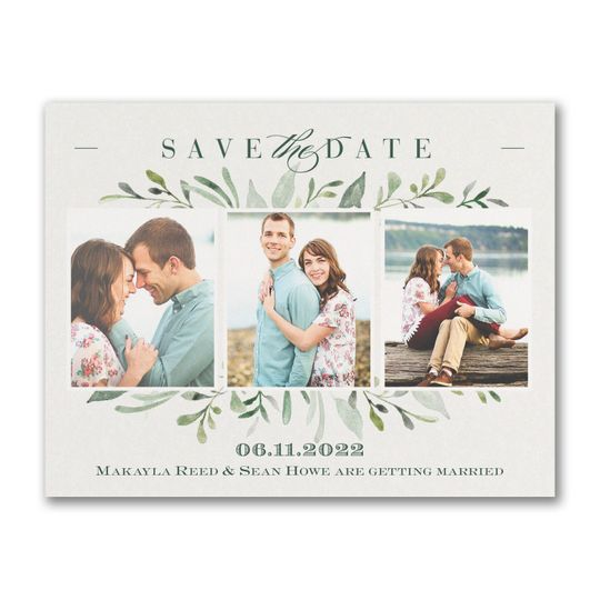Photo save-the-date magnet