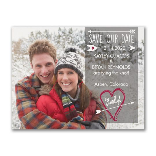Heart and Arrow Save the Date