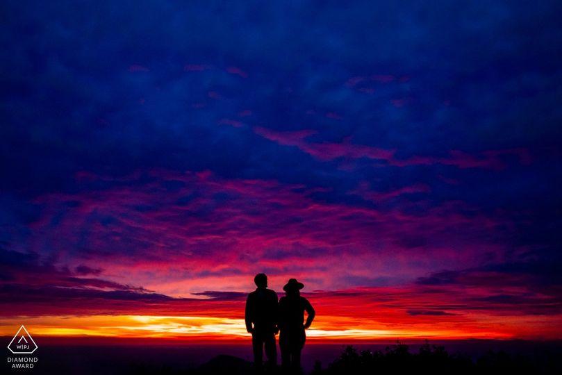 Sunrise at Hawksbill Mountain