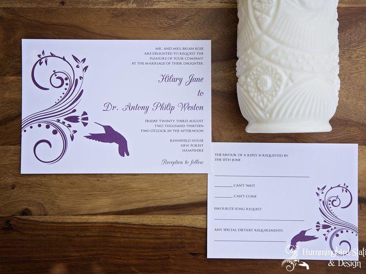 Tmx 1417291960684 Wmhummingbird Stationery 031 Lompoc wedding invitation