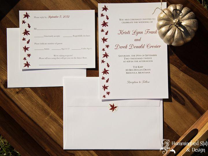 Tmx 1417292059907 Wmhummingbird Stationery And Design007 Lompoc wedding invitation