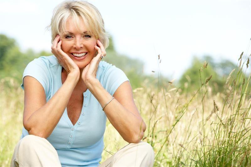 mature woman smiling medium