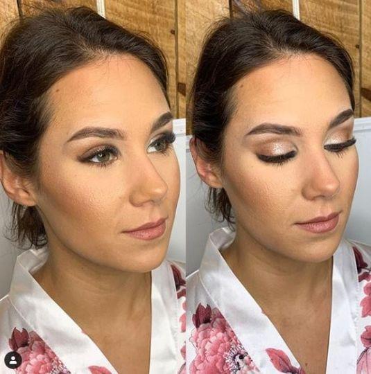 Stunning eye makeup application