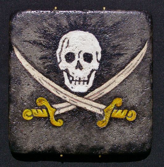 This Jolly Roger design from Missy's Painted Reef could be used as a fun favor idea for a...