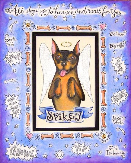 This custom image from Missy's Painted Reef is a custom memorial to remember Spikey.