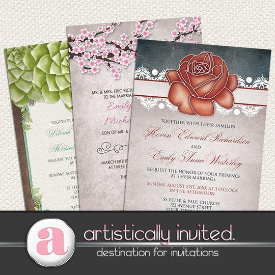 rustic wedding invitations artistically invited