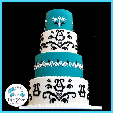 Tmx 1378088360799 Wedding Cake Turquois Dunellen wedding cake
