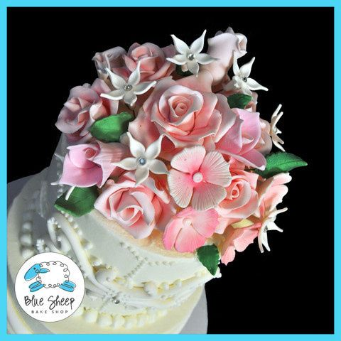 Tmx 1378088568686 Royalrosesweddingcake2wlarge Dunellen wedding cake