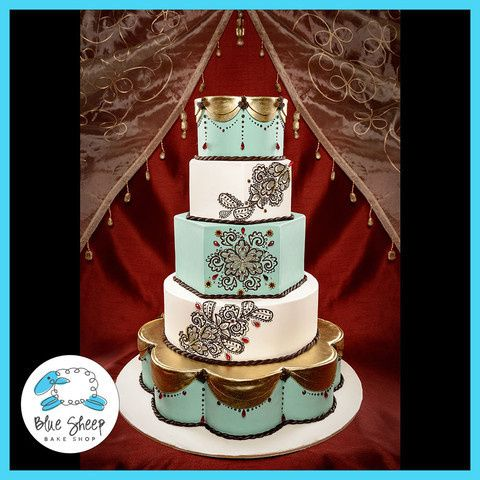 Tmx 1378088572379 Weddingcakehenna2large Dunellen wedding cake