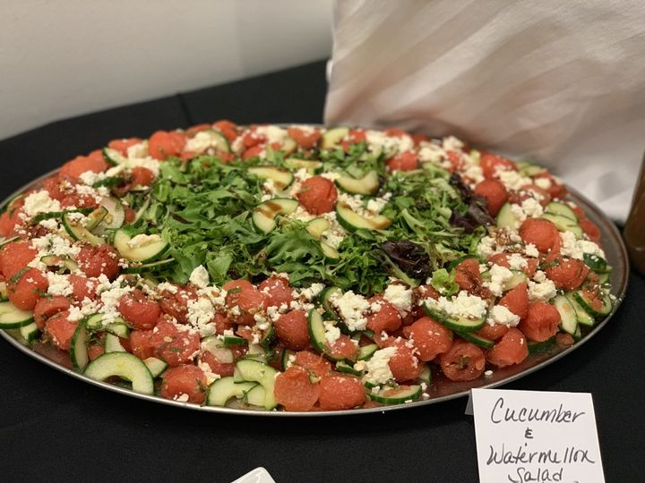 Cucumber and watermelon salad
