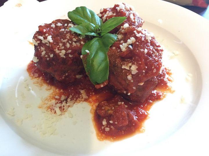 Hand-rolled Italian meatballs