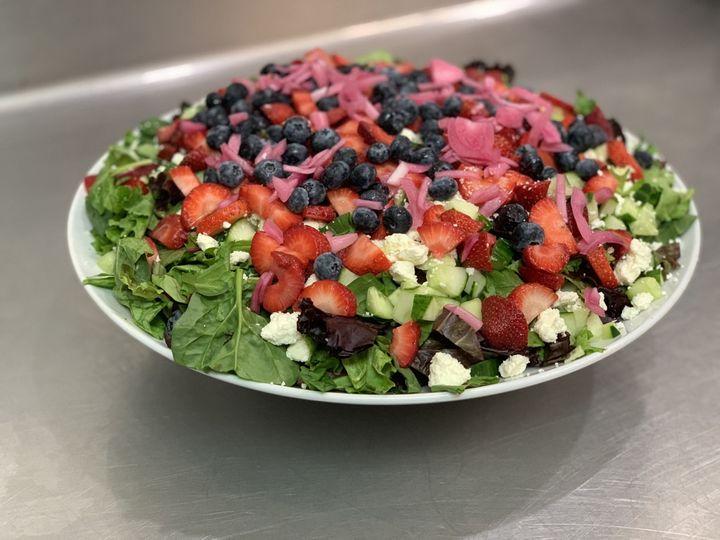 Spring berry crunch salad