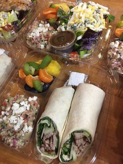 Boxed lunches with fresh fruit