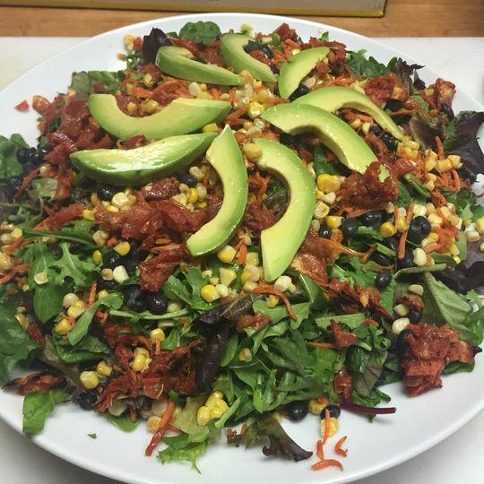 Southwest sweet corn salad
