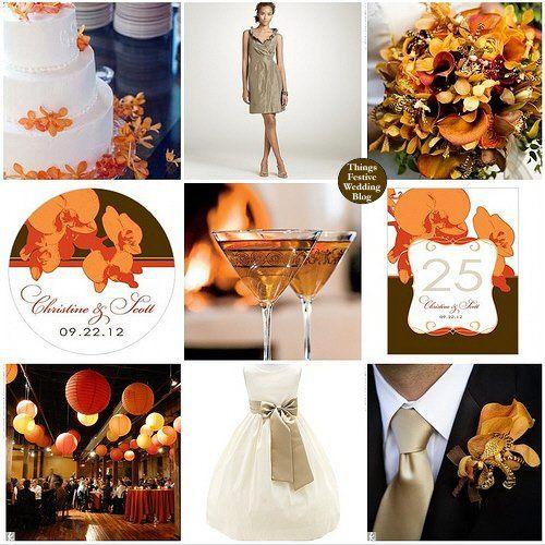 Tmx 1302255765903 Beachweddingthemeinorangetaupebrown Dearborn wedding invitation