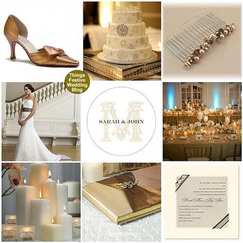 Tmx 1302255825032 Bronzemochaivorywinterweddingtheme Dearborn wedding invitation
