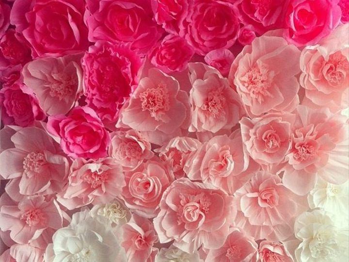 Tmx 1415983649143 Ambre Hot Pink Flower Backdrop Rockville wedding eventproduction