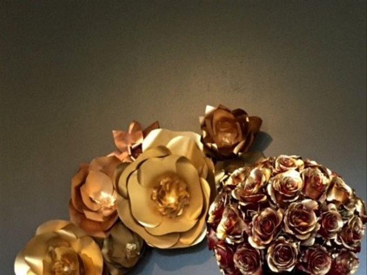 Tmx 1415983665359 Gold Flower Wall Decore Rockville wedding eventproduction