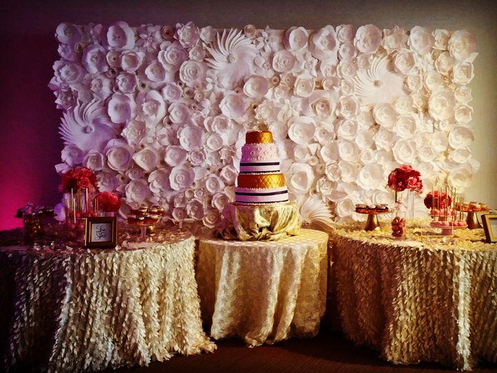 Tmx 1490978658711 All White Paper Flower Backdrop 8x12 Rockville wedding eventproduction