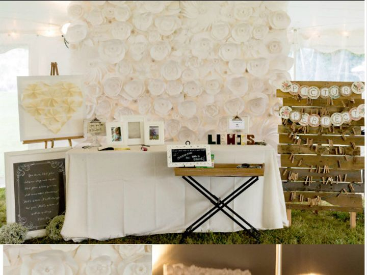Tmx 1490978658741 All White Paper Flower Backdrop 10 Rockville wedding eventproduction