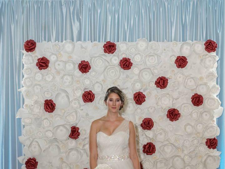 Tmx 1490978681393 One Color Spotlight Paper Flower Wall 5 Rockville wedding eventproduction