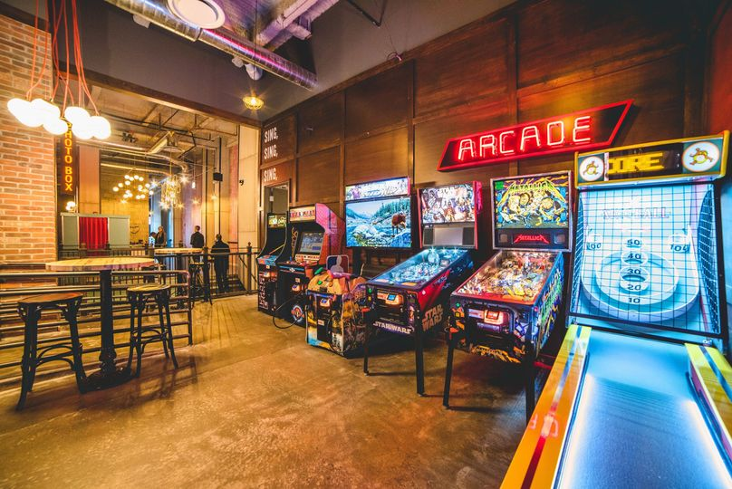 Arcade at the bar