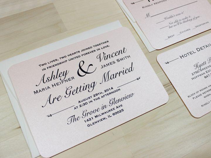 Tmx 1414170613614 Pink Simmer Invite 2 Waukesha wedding invitation