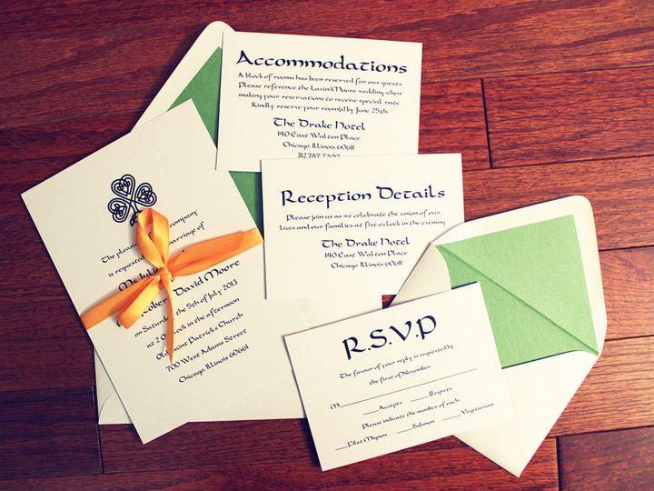 Tmx 1414170708421 Qbcheck Designs Celtic Invite Lrg Waukesha wedding invitation