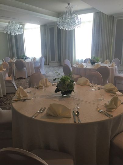 Simple ballroom set up