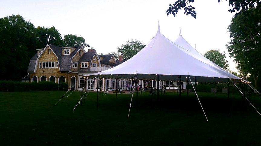 Reception tent exterior