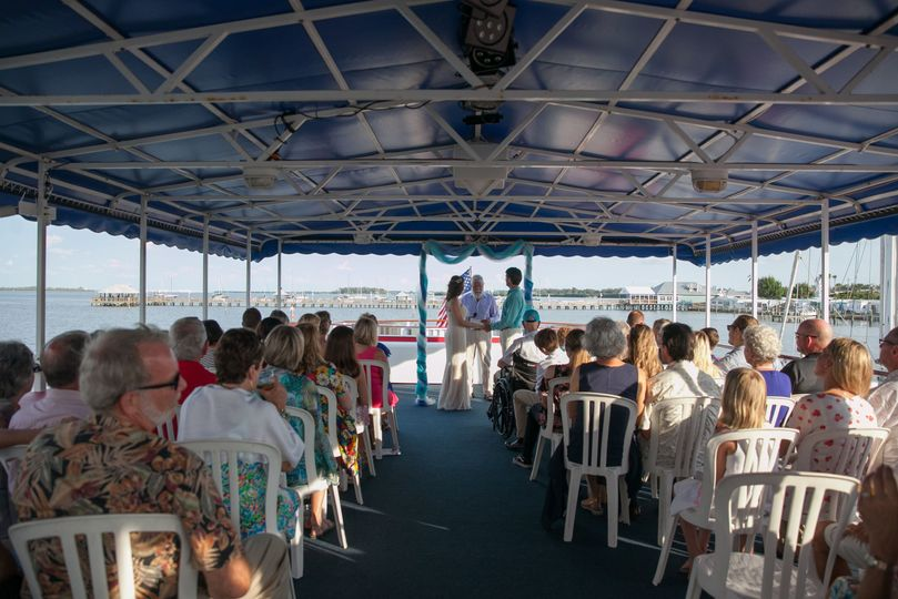 Casual elegant ceremony options on upper deck