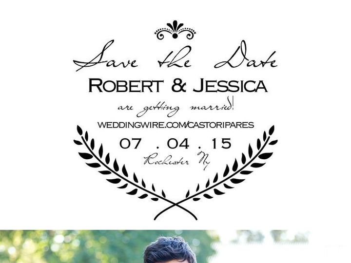 Tmx 1435330181959 095 Rochester, NY wedding invitation