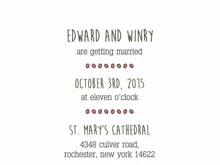 Tmx 1435330294856 390 Rochester, NY wedding invitation