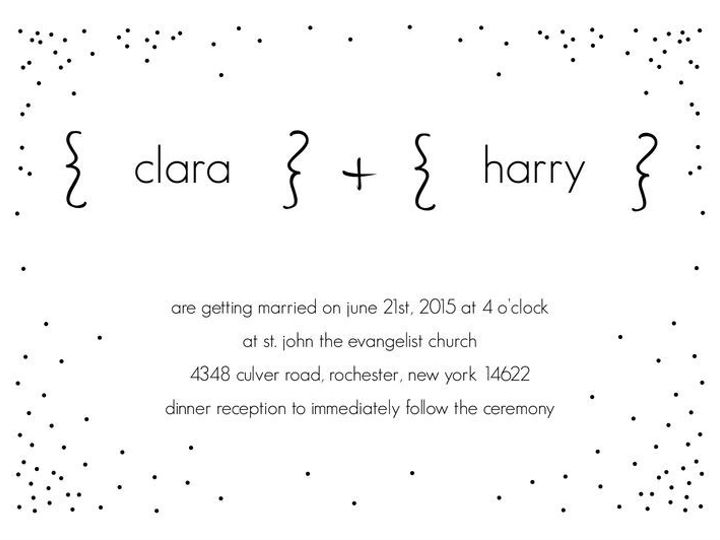 Tmx 1435330359836 429 Rochester, NY wedding invitation