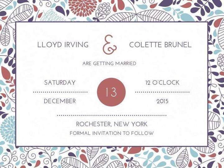 Tmx 1435330367920 432 Rochester, NY wedding invitation
