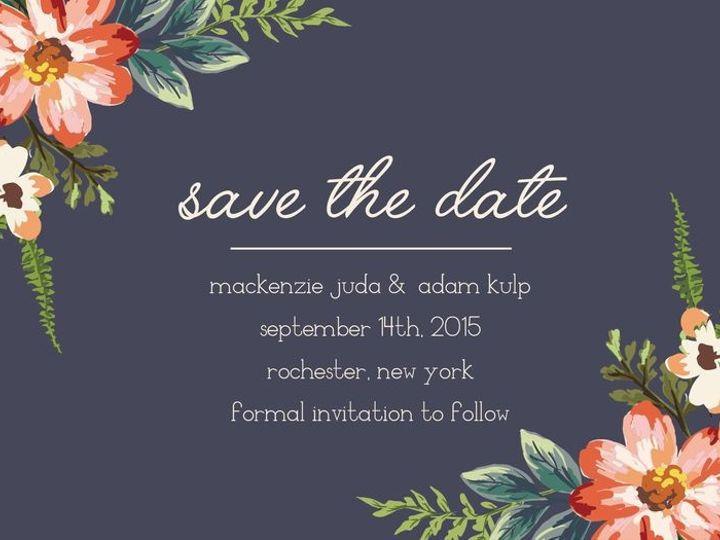 Tmx 1435330427866 494 Rochester, NY wedding invitation