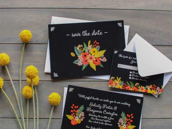 Tmx 1504031999474 Weddingsuiteblack Fairport, NY wedding invitation