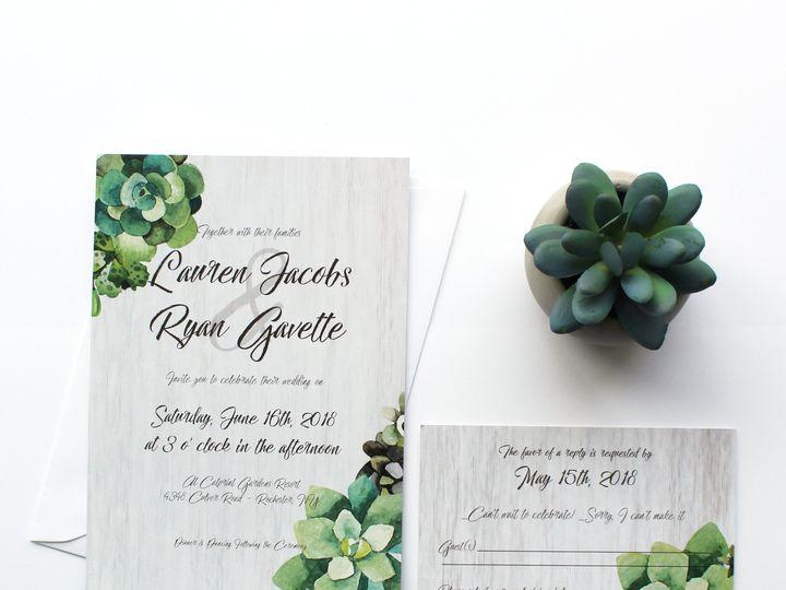 Tmx 1504032065827 Weddingsucculent Fairport, NY wedding invitation