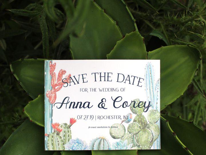 Tmx 1504032127921 Stdcacti Fairport, NY wedding invitation