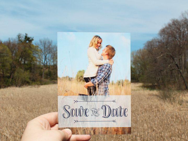 Tmx 1504032159999 Savethedatefield Fairport, NY wedding invitation