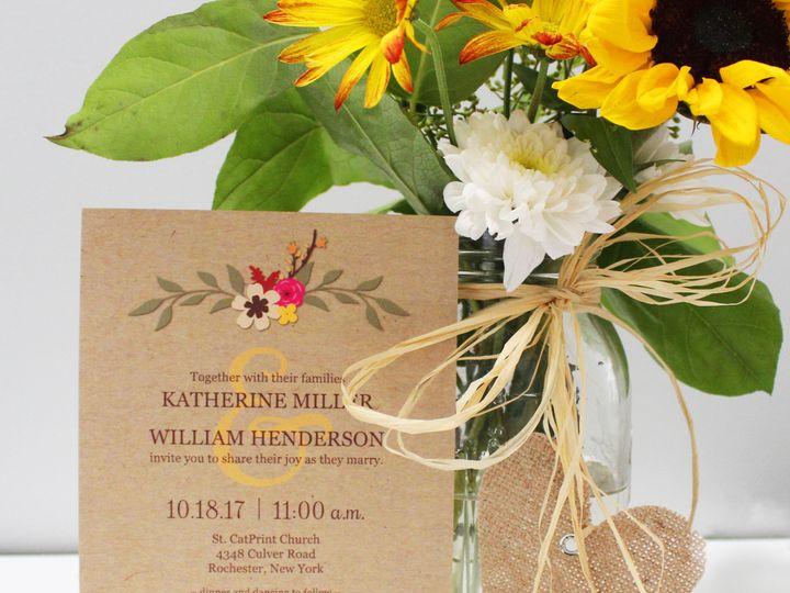 Tmx 1504032473044 Fallfloral Fairport, NY wedding invitation