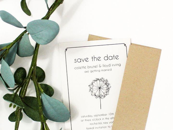 Tmx 1504033586553 Stdsimple Rochester, NY wedding invitation