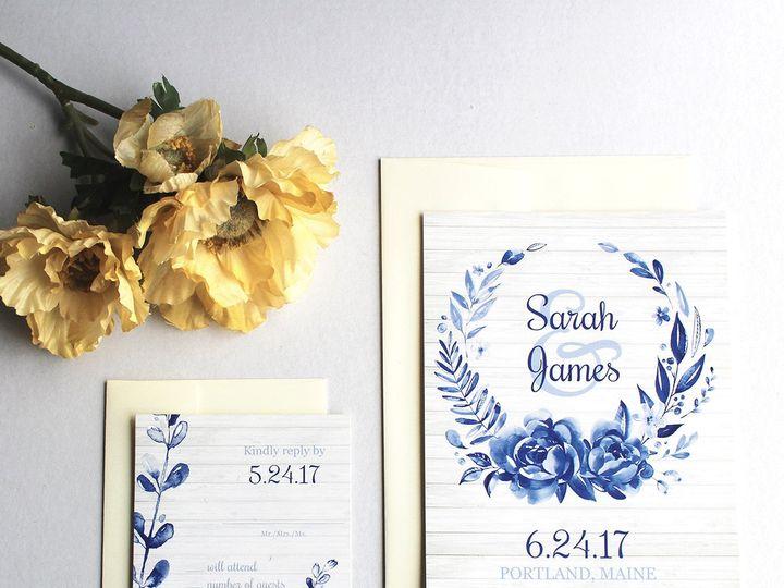 Tmx 1504034341882 Weddingsuitesomethingblue Fairport, NY wedding invitation
