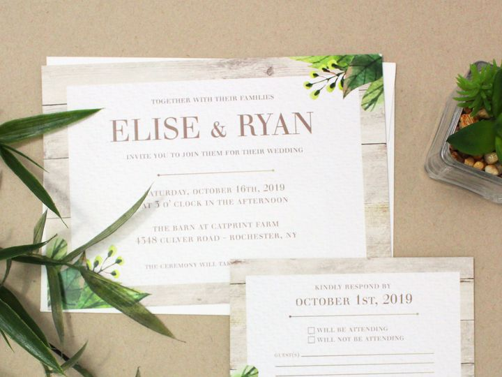 Tmx 1504034457876 Weddinggreenerysuite Rochester, NY wedding invitation