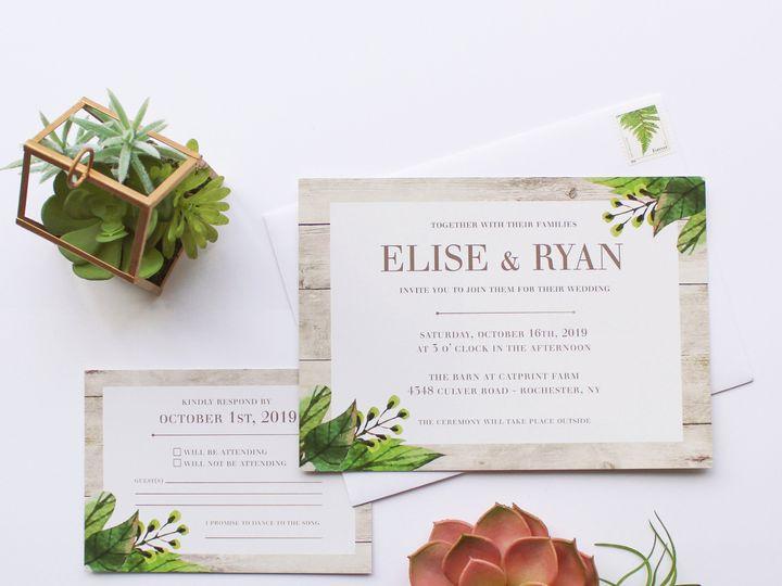 Tmx 1504034485292 Weddinggreenery Fairport, NY wedding invitation