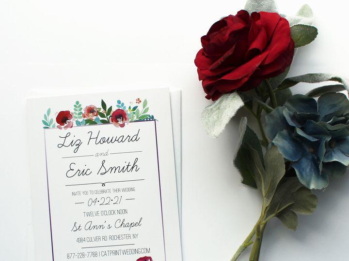 Tmx 1504034541375 Weddingfloral Rochester, NY wedding invitation