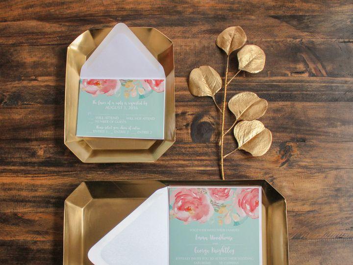 Tmx 1504034589669 Turquoiseflowerwedding Fairport, NY wedding invitation
